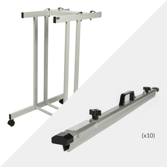 Draftex A1 Plan Trolley (10 Clamp Capacity) and 10x Draftex A1 Plan Clamps ( PFP2 )