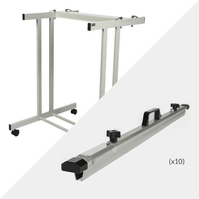 Draftex A1 Plan Trolley (20 Clamp Capacity) and 10x Draftex A1 Plan Clamps ( PFP3 )