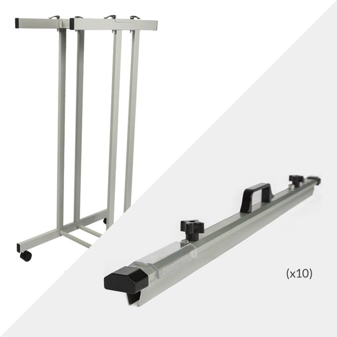 Draftex A0 Plan Trolley (10 Clamp Capacity) and 10x Draftex B1 Plan Clamps ( PFP5 )