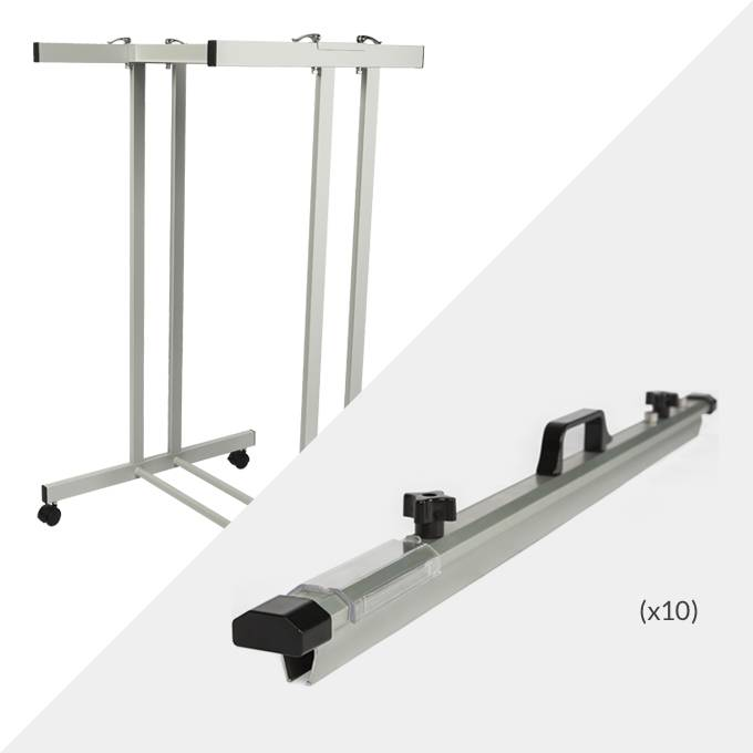 Draftex A0 Plan Trolley (20 Clamp Capacity) and 10x Draftex A0 Plan Clamps ( PFP9 )