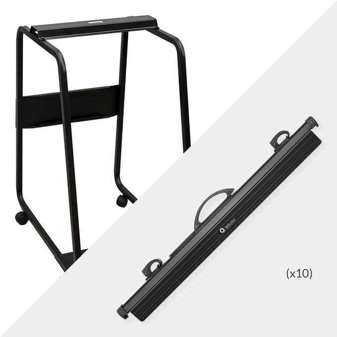 Hang-A-Plan A1 Plan Trolley and 10x A1 QuickFile binders ( D006B )