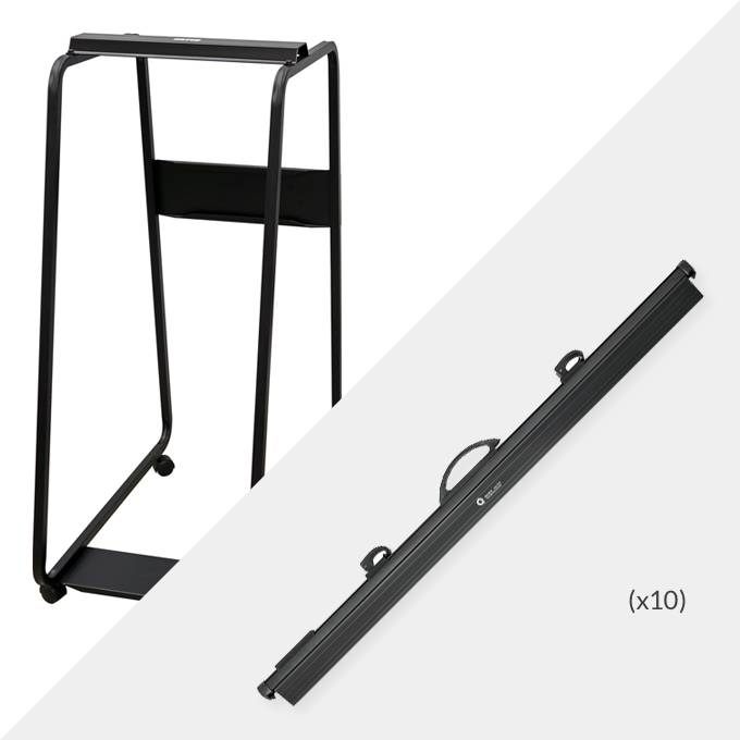 Hang-A-Plan A0 Plan Trolley and 10 x A0 Quickfile binders ( D007B )