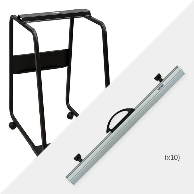 Hang-A-Plan A1 Plan Trolley and 10 x A1 binders ( D008 )